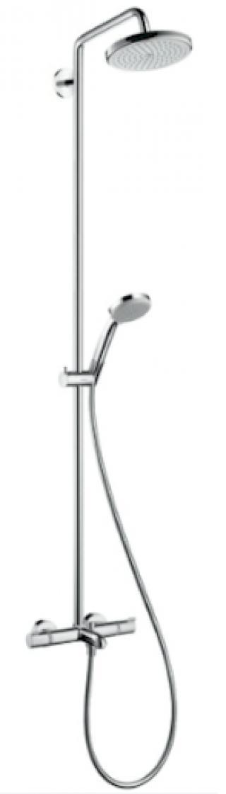 Sprchový systém Hansgrohe Croma na stěnu s vanovým termostatem chrom 27223000 chrom chrom