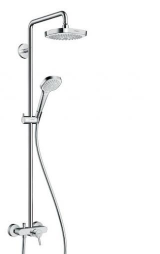 Sprchový systém Hansgrohe Croma Select E na stěnu s pákovou baterií bílá/chrom 27258400 chrom bílá