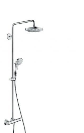 Sprchový systém Hansgrohe Croma Select E na stěnu s termostatickou baterií bílá/chrom 27257400 chrom bílá