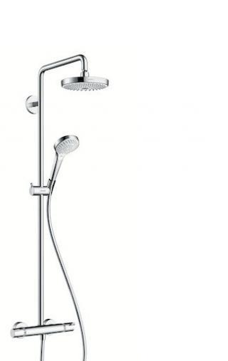 Sprchový systém Hansgrohe Croma Select S na stěnu s termostatickou baterií bílá/chrom 27253400 chrom bílá