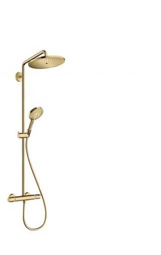 Sprchový systém Hansgrohe Croma-Select včetně baterie leštěný vzhled zlata 26890990 ostatní leštěný vzhled zlata