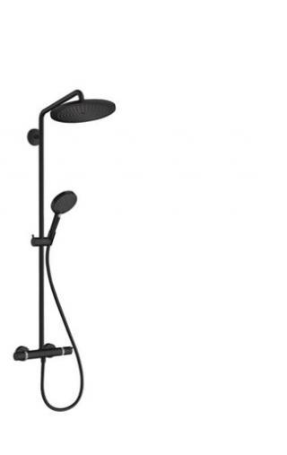 Sprchový systém Hansgrohe Croma-Select včetně baterie matná černá 26890670 černá matná černá