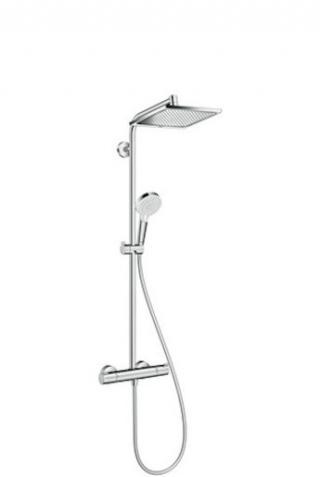 Sprchový systém Hansgrohe Crometta E na stěnu s termostatickou baterií chrom 27271000 chrom chrom