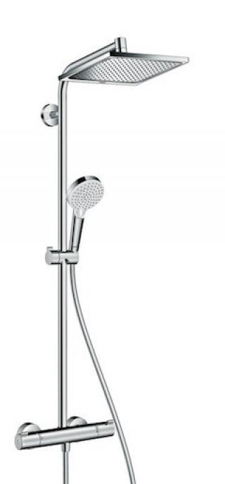 Sprchový systém Hansgrohe Crometta E na stěnu s termostatickou baterií chrom 27281000 chrom chrom