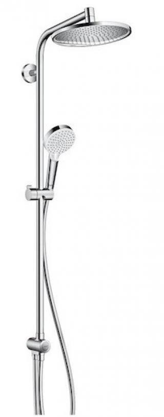 Sprchový systém Hansgrohe Crometta S na stěnu bez baterie chrom 27270000 chrom chrom