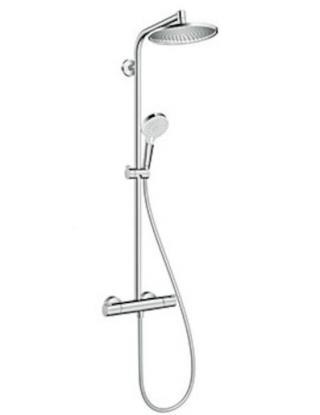 Sprchový systém Hansgrohe Crometta S na stěnu s termostatickou baterií chrom 27268000 chrom chrom