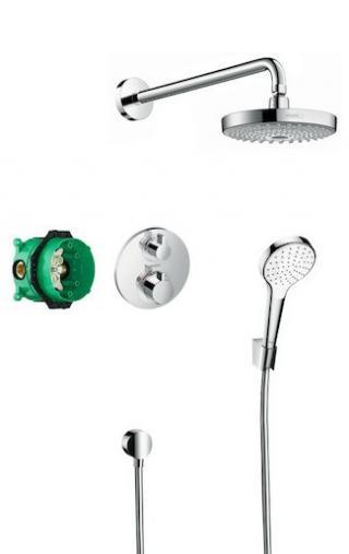 Sprchový systém Hansgrohe Ecostat včetně podomítkového tělesa chrom 27295000 chrom chrom
