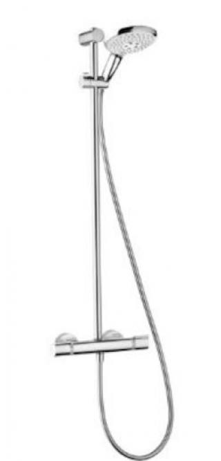 Sprchový systém Hansgrohe My Select na stěnu s termostatickou baterií chrom 27239000 chrom chrom