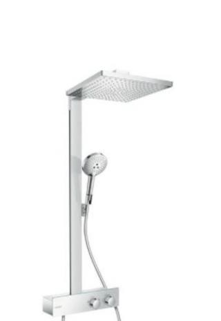 Sprchový systém Hansgrohe Raindance E na stěnu s termostatickou baterií chrom 27361000 chrom chrom