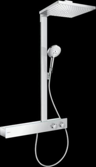 Sprchový systém Hansgrohe Raindance E na stěnu s termostatickou baterií chrom 27364000 chrom chrom