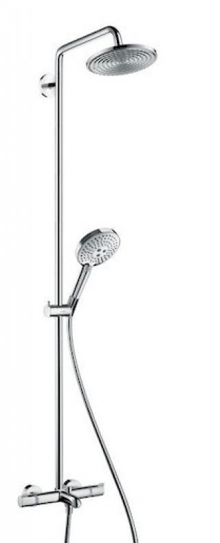 Sprchový systém Hansgrohe Raindance S na stěnu s termostatickou baterií chrom 27117000 chrom chrom