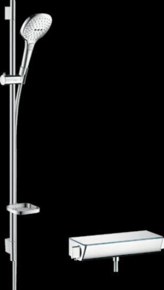 Sprchový systém Hansgrohe Raindance Select E na stěnu s termostatickou baterií chrom 27039000 chrom chrom