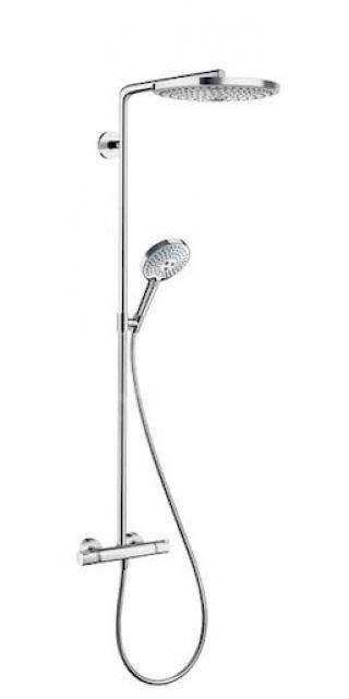 Sprchový systém Hansgrohe Raindance Select S na stěnu s termostatickou baterií chrom 27133000 chrom chrom