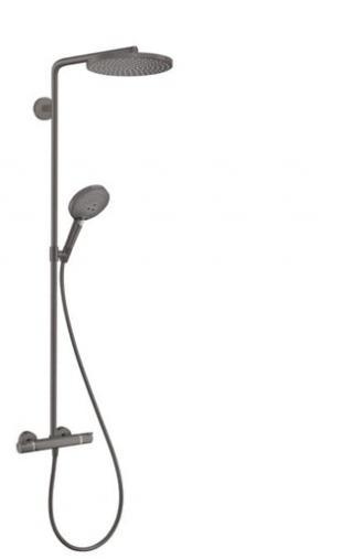 Sprchový systém Hansgrohe Raindance-Select včetně baterie kartáčovaný černý chrom 27633340 černá kartáčovaný černý chrom