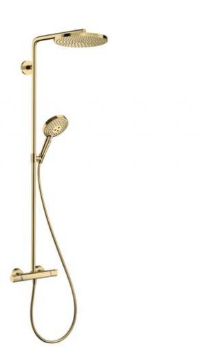 Sprchový systém Hansgrohe Raindance-Select včetně baterie leštěný vzhled zlata 27633990 ostatní leštěný vzhled zlata