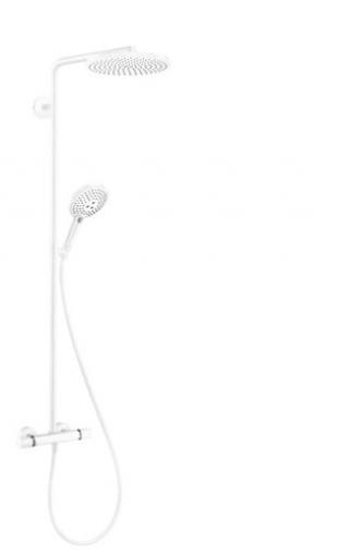 Sprchový systém Hansgrohe Raindance-Select včetně baterie matná bílá 27633700 bílá matná bílá