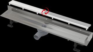 Sprchový žlab Alcaplast DOUBLE9 FIT AND GO ke stěně 75 cm nerez APZ23DOUBLE9750