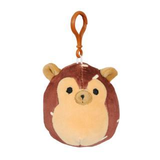 SQUISHMALLOWS Klíčenka hnědý ježek hnědá