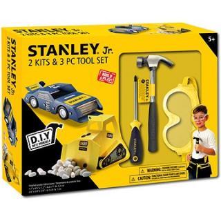 Stanley Jr.U004-K02-T03-SY Sada obsahuje autičko, bagr a 3 kusů nářadí.
