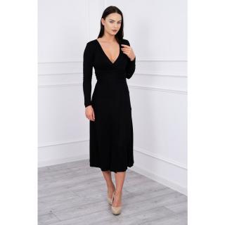 Straight Dress V-Neckline black dámské Neurčeno XXL