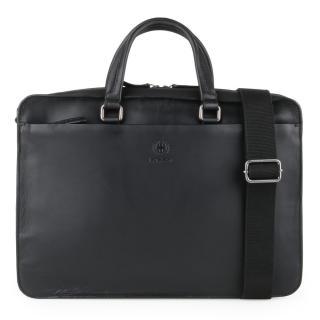 Strellson Pánská kožená taška přes rameno Bakerloo 4010002860 - černá