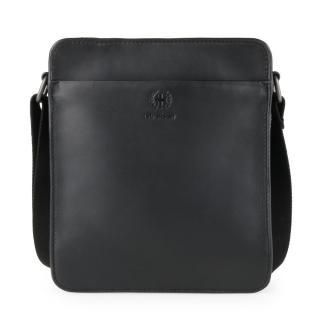 Strellson Pánský kožený messenger Bakerloo 4010002864 - černá
