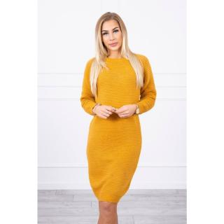 Striped sweater dress mustard dámské Neurčeno One size