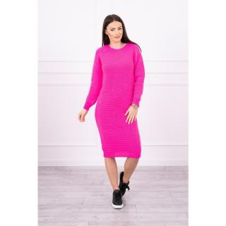 Striped sweater dress pink neon dámské Neurčeno One size