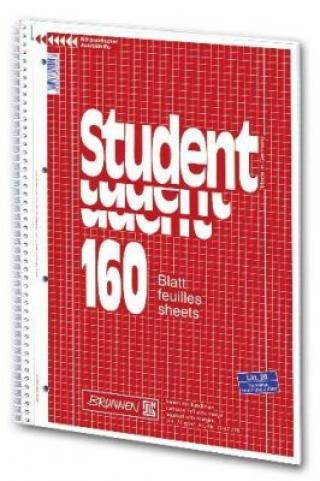 Student blok A4 70g ,čtvereč,spirála,160 listů