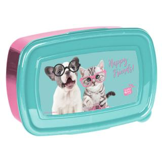 Studio Pets Box na svačinu Happy friends modrý