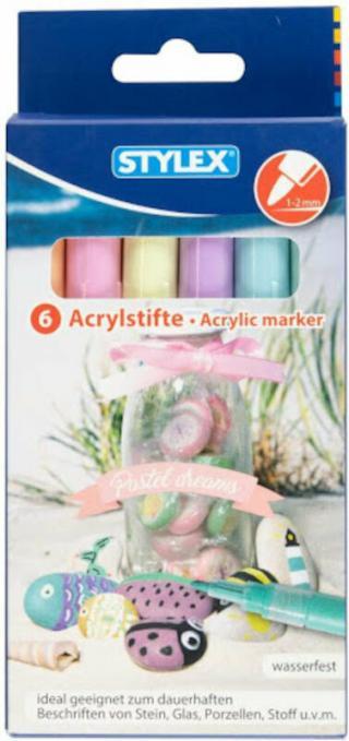 Stylex Akrylový popisovač Pastel Tones 6 ks