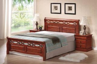 Stylová postel SIG201, třešen