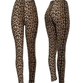 Stylové dámské legíny Gires - leopardí vzor