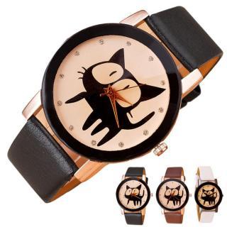 Stylové hodinky s kočičím motivem Ponfira - více barev