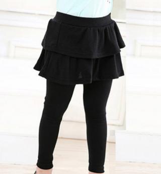 Stylové legíny se sukní - 6 barev Barva: černá, Velikost: 3