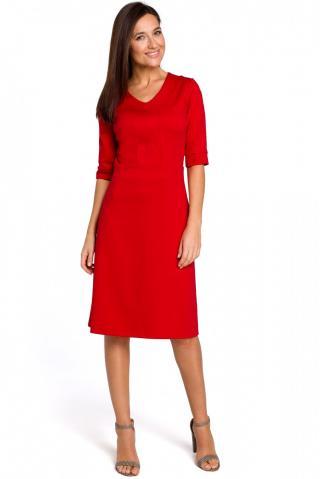 Stylove Womans Dress S153 dámské Red L