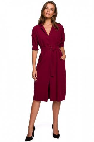 Stylove Womans Dress S230 Maroon dámské Red L