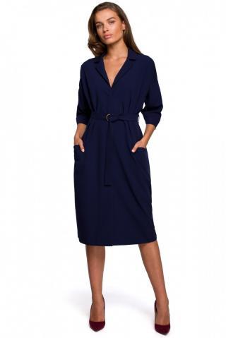 Stylove Womans Dress S230 Navy Blue dámské L
