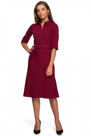 Stylove Womans Dress S231 Maroon dámské Red L