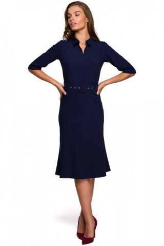 Stylove Womans Dress S231 Navy Blue dámské L