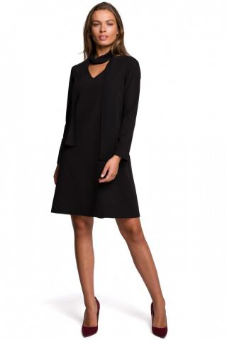 Stylove Womans Dress S233 dámské Black L