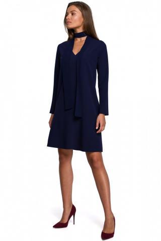 Stylove Womans Dress S233 Navy Blue dámské L