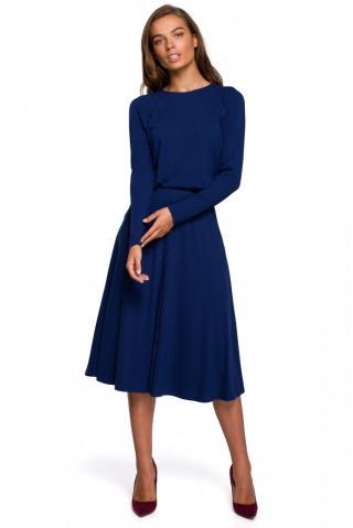 Stylove Womans Dress S234 dámské Deep Blue L