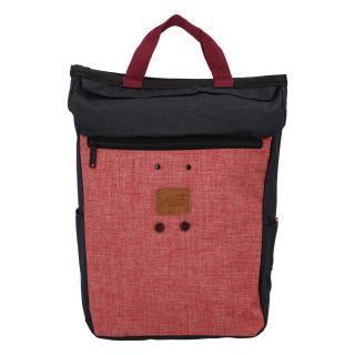 Stylový černo růžový látkový batoh - New Rebels Javan dámské