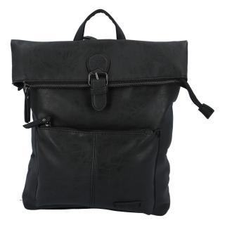 Stylový střední batoh černý - Enrico Benetti Amsterdam dámské