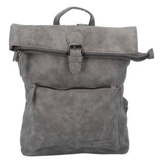 Stylový střední batoh šedý - Enrico Benetti Amsterdam dámské