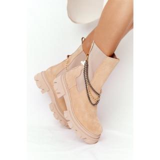 Suede Chelsea Boots Lewski Shoes 2998-0 Sand dámské Neurčeno 38