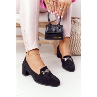 Suede High-Heeld Shoes Sergio Leone PB148 Black dámské Neurčeno 39