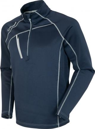 Sunice Alexander Thermal Zip Mens Sweater Midnight/Pure White L pánské Blue L