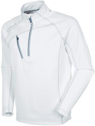 Sunice Alexander Thermal Zip Mens Sweater Pure White/Black XL pánské XL